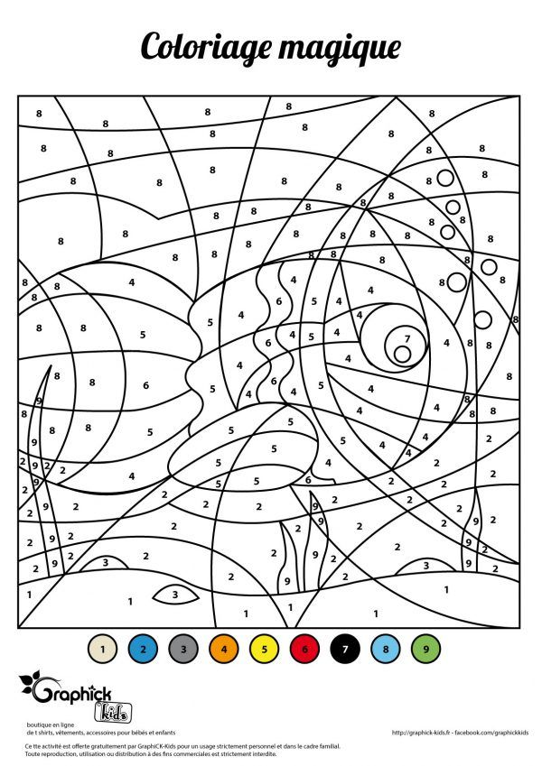 L Activite Du Mercredi Le Coloriage Magique Du Poisson D Avril Graphick Kids Coloriage Magique Activite Poisson D Avril Poisson D Avril