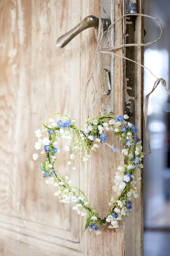 forget me not & lily of the valley heart...