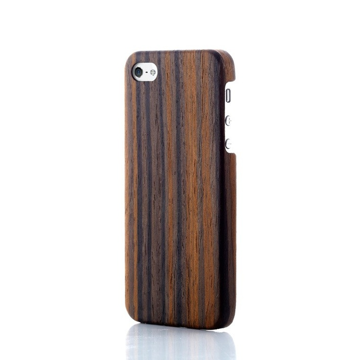 Evouni Ultra-Slim Wooden Case for iPhone 5 - Golden Cane