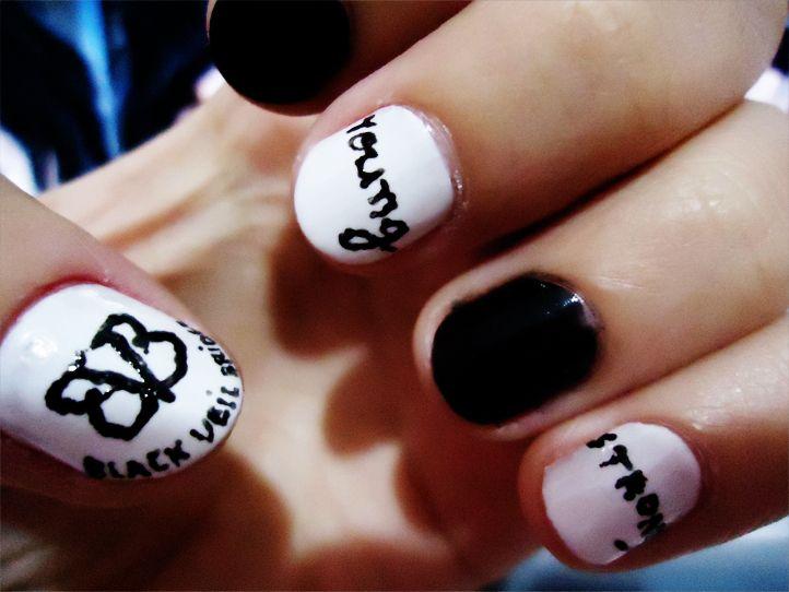 my nails Black Viel Brides Design - The 25+ Best Emo Nail Art Ideas On Pinterest DIY Emo Nails, Goth