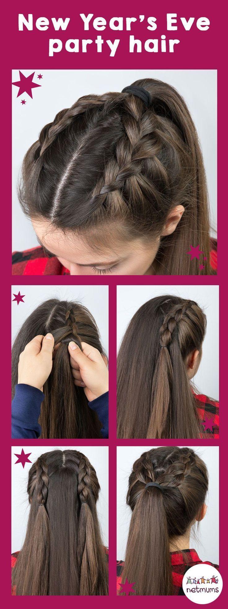 Silvester Haar Ideen. Wenn Sie nach Haarideen für das neue Jahr suchen