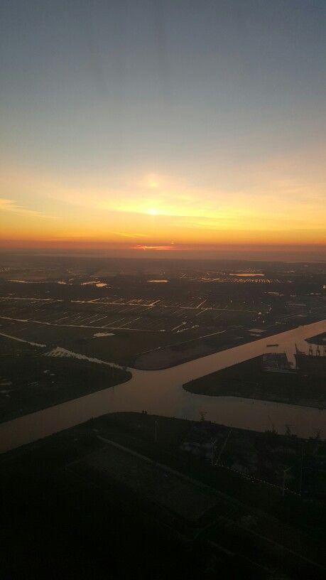 Schiphol zonsopgang