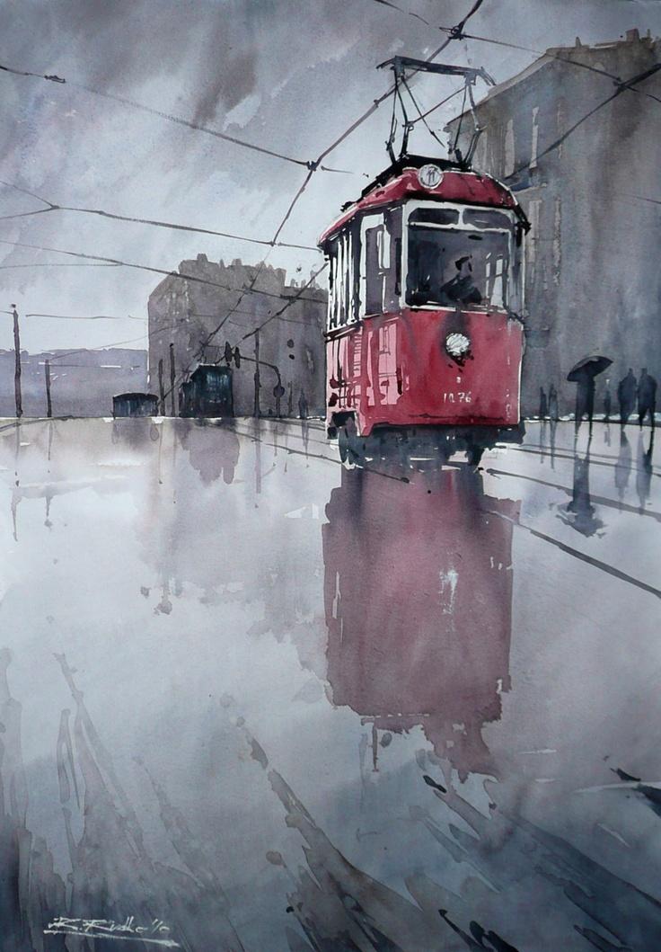 love this watercolor. feels like rain.