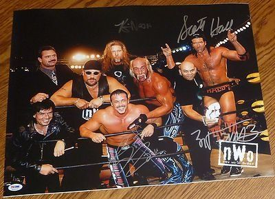Scott Hall Kevin Nash Buff Bagwell Konnan Signed NWO 16x20 Photo COA WWE - PSA/DNA Certified - Autographed Wrestling Photos by Sports Memorabilia. $155.30. Scott Hall Kevin Nash Buff Bagwell Konnan Signed NWO 16x20 Photo PSA/DNA COA WWE