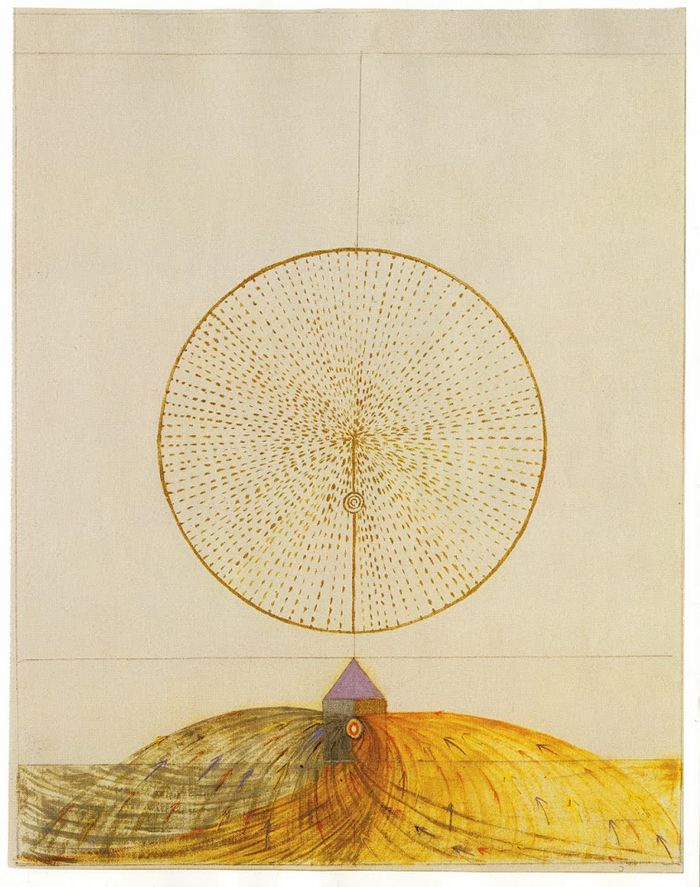 """Hilma af Klint - An inventive geometric visual language inspired by automatic drawing. Hilma was a Swedish artist and mystic whose muses dwelled in the spirit world, asking her to paint """"on the astral plane."""" / Sacred Geometry"""