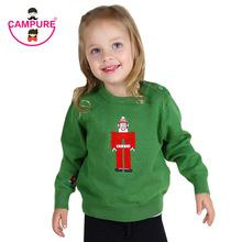 Campure Baby Boys Girls Clothes Fashion Brand Embroidery Father Christmas Sweater Bobo Style Children Clothing 2016 Kids Clothes(China (Mainland))