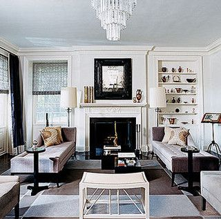 Thom Filicia   Vogue  gray and white eclectic vintage art deco traditional  modern living room 39 best Art Deco images on Pinterest   Art deco bedroom  Art deco  . Art Deco Living Room Ideas. Home Design Ideas