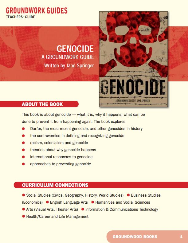Teachers' Guide for A Groundwork Guide to Genocide. Some view the systematic killing, rape and destruction of homes in Darfur as a grave humanitarian crisis. For others, it's a clear example of the ultimate crime against humanity — genocide. Who is right? What is genocide? What is the impact on humanity of wiping out entire groups of people? Who are the endangered human beings in today's world?