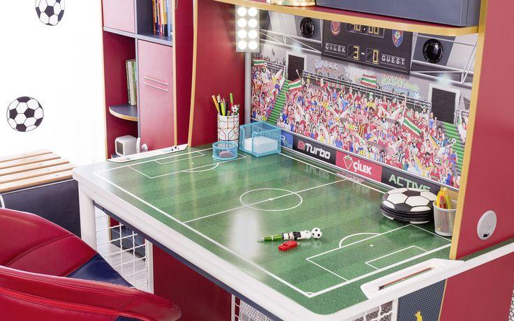 #football #futbol #futbolcu #dekorasyon #decoration #cocukodasi #oda #room #conceptroom #şampiyon #dolap #masa
