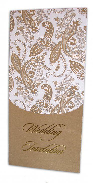 paisley theme wedding   ABC 490 antique paisley wedding invitation [] - £0.35 : Shadi Cards