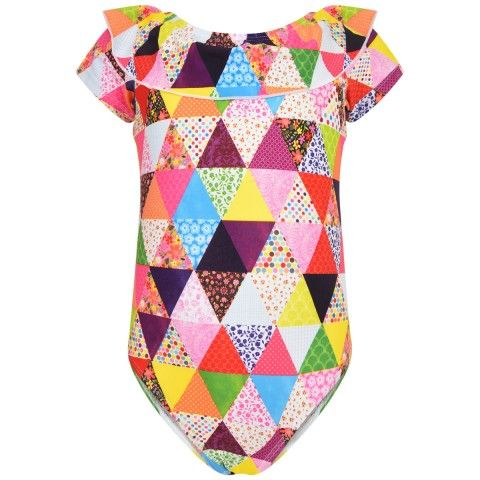 Mim-pi Multi-coloured Geometric Print  Swimming Costume