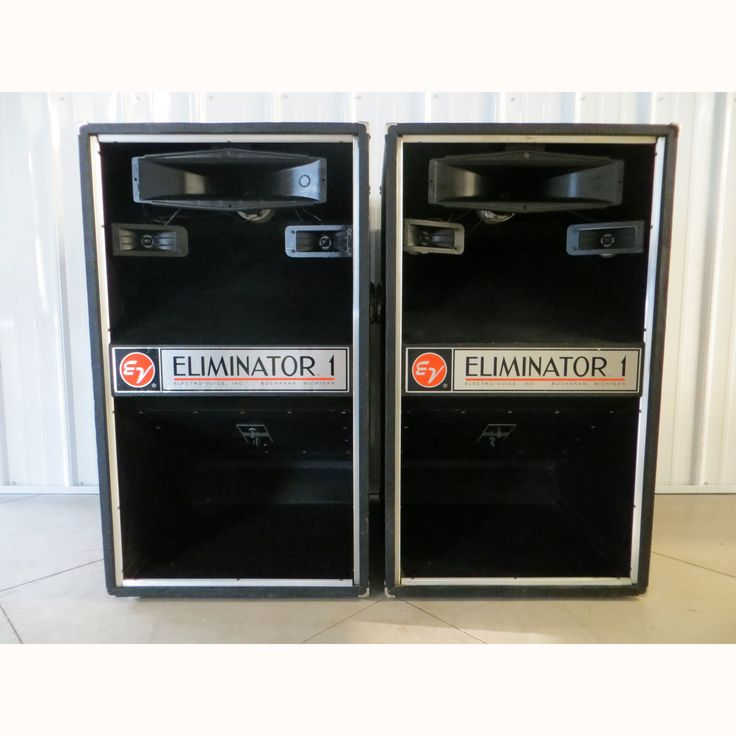 1970 S Ev Eliminator 1 3 Way Speakers Pair Musical