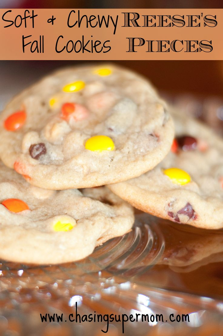 Soft & Chewy Reese's Pieces Fall Cookies