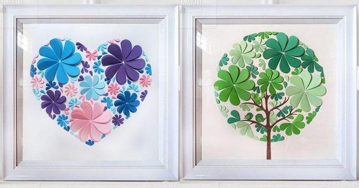 DIY návod na snadnou dekoraci na zeď z papírových srdíček