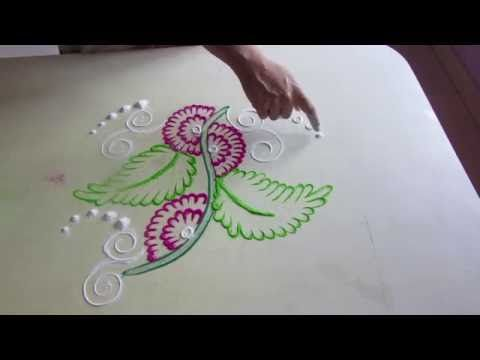 Rangoli Design Simple With Dots How To Make