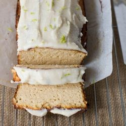 Healthy Coconut and Lime Pound Cake {paleo, gluten-free, dairy-free, sugar-free recipe}