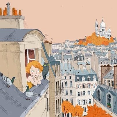 Dreaming of Montmartre. I saw this rick steve's video where they did the fluffiest omelet ever at this Montmartre restaurant.