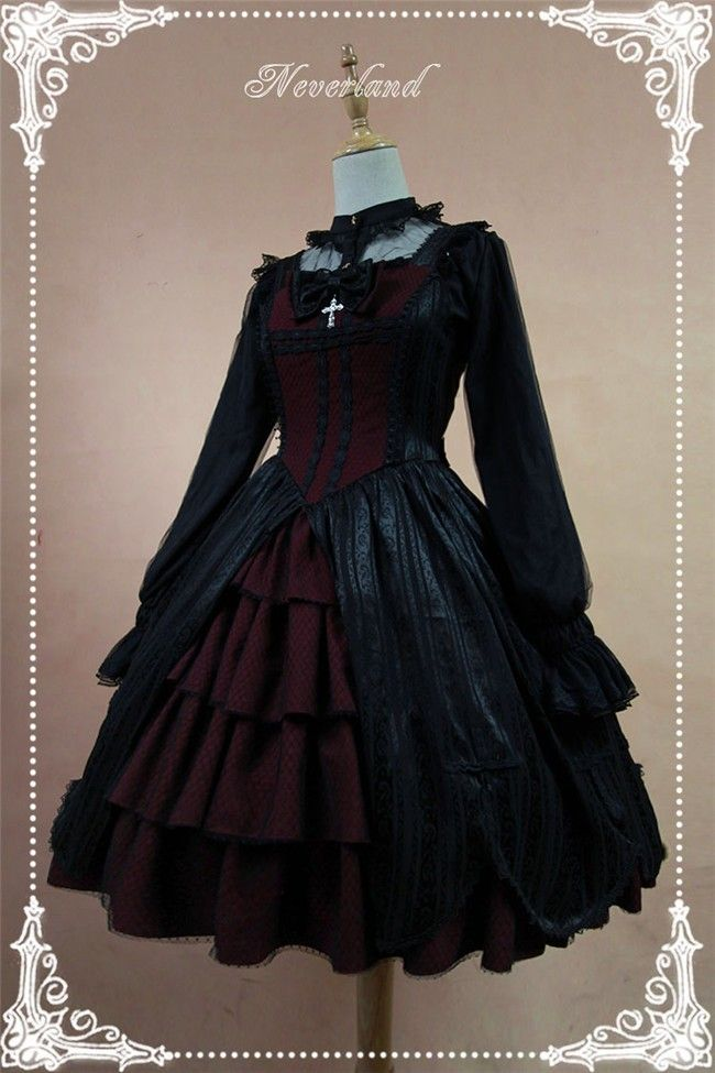 Light and Dark Team*** Gothic Lolita Normal Waist JSK Dress with Front Open Design$115.99 - My Lolita Dress
