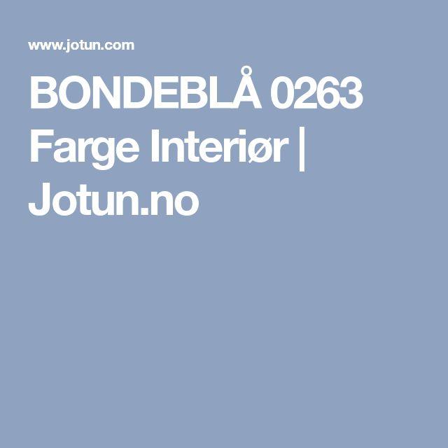 BONDEBLÅ 0263 Farge Interiør | Jotun.no