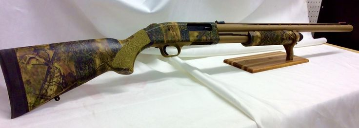 Mossberg 835 Ultimag Hydro Dipped in Woodsman Camo Pattern and Cerakote with Custom Stempling on Palm Grip