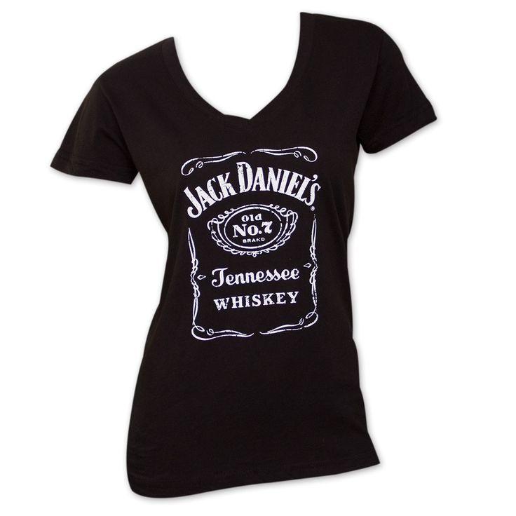 Women's Jack Daniels V-Neck T-Shirt Size