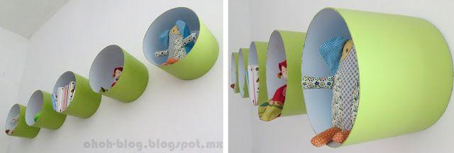 DIY Ohoh Blog : étagères à partir de seaux de peinture