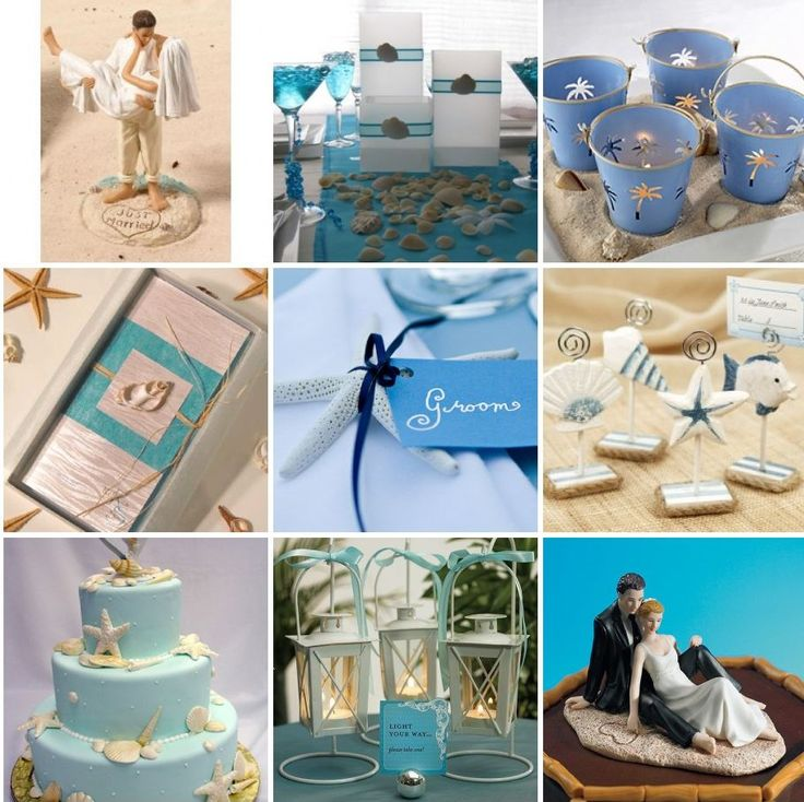 diy beach theme wedding centerpieces%0A Beach Theme Wedding Ideas and Tips  Beach Theme Wedding In Blue Colors  Fashion Style
