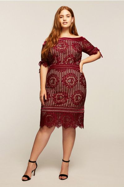 Tadashi Shoji Wine Color Plus Size Dress Plus Size Fashion