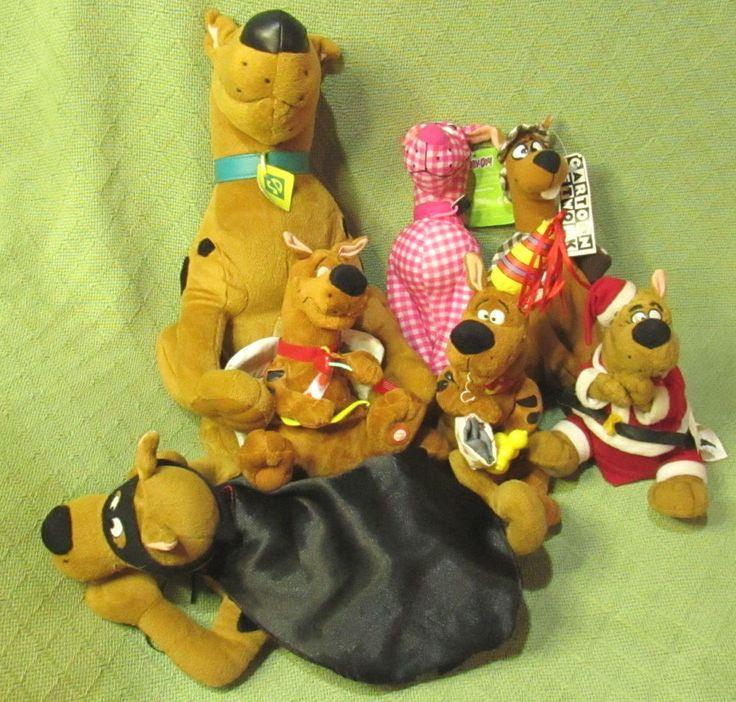 Scooby Doo LOT Scooby DUM Animated Plush PINK Plaid Plush Stuffed Cartoon Networ #CartoonNetwork
