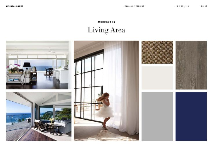 Vaucluse project | Living Room moodboard by Melinda Clarke Interiors