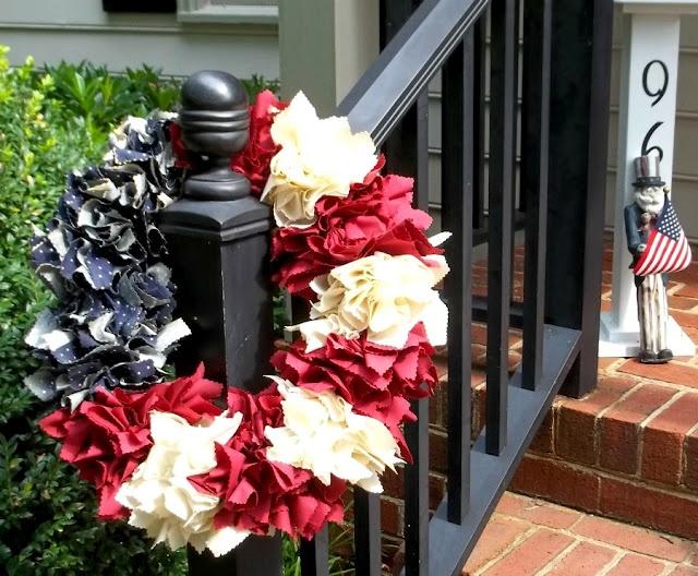 Americana Wreath from scrap material