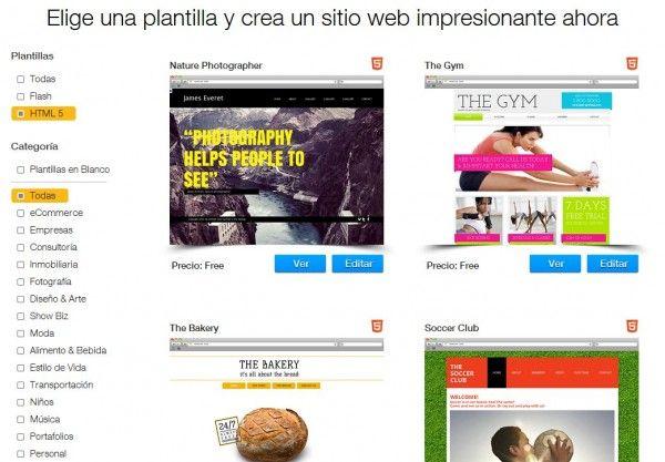 Wix ya permite crear páginas web en HTML5