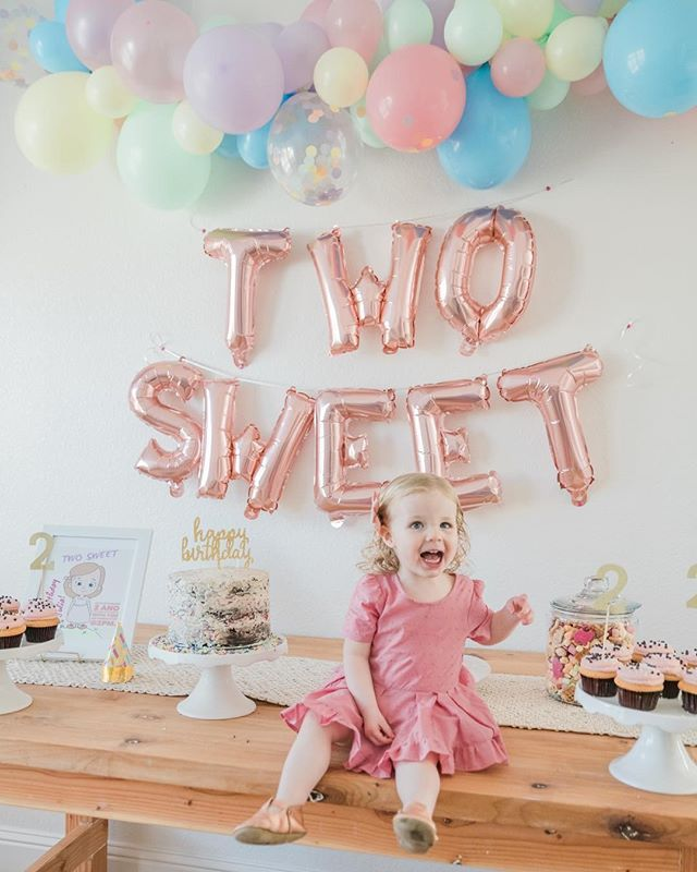 2nd birthday Party decorations Second birthday decorations Second birthday party 2nd birthday confetti Girls 2nd birthday decorations