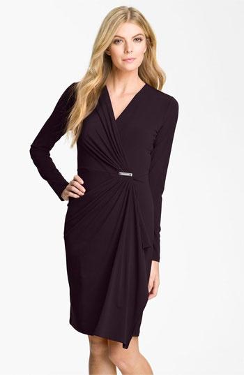 MICHAEL Michael Kors Long Sleeve Wrap Dress (Plus)   Nordstrom: Wrap Dresses, Michael Michael, Michael Kors Dress, Style, Black Dress, Women, Wraps