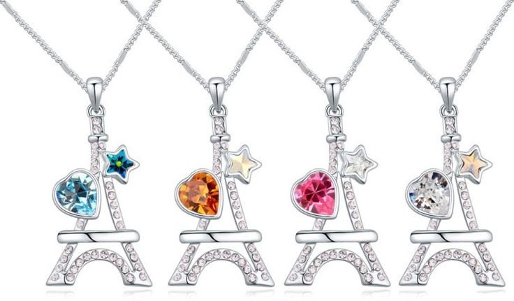 $11 Eiffel tower Swarovski crystal necklace - Yohanna Jewelry Wholesale. BEST PRICE: Directly in the jewelry factory. VAT-free shopping: Available, partners based in the European Union, only applies to EU tax identification number (UID). Exclusive design SWAROVSKI crystals and AAA Zircon crystal jewelry and men's stainless steel jewelry and high-quality stainless steel jewelry for couples sell in bulk to resellers! Please contact us.