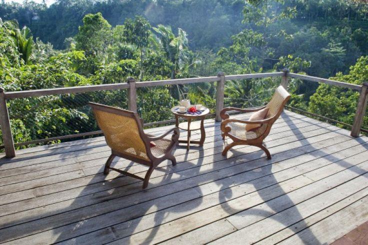Villa Melati | 1,2,3 bedroom option | Magnificent views of Bali rain forest, river gorge, rice terrace and distant volcanos #ubud