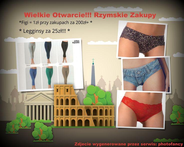 Rzymskie Zakupy - otwarcie i promocje!