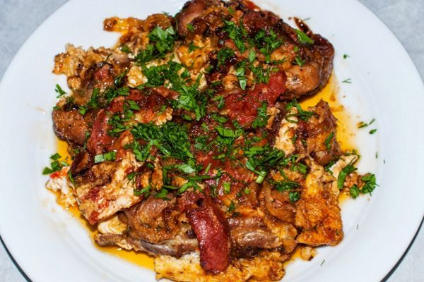 Chicken with tomatoes