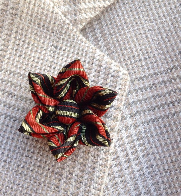 Custom Lapel Pins Mens Lapel Pin Flower Lapel Pin Lapel Flower Striped Boutonniere Kanzashi Brooch Gift For Him Burnt Orange Suit Pin by exquisitelapel on Etsy https://www.etsy.com/listing/499690582/custom-lapel-pins-mens-lapel-pin-flower