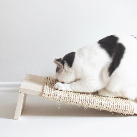 Stop cleaning up pounds of cardboard and pretty up your cat scratchers with this super easy diy!