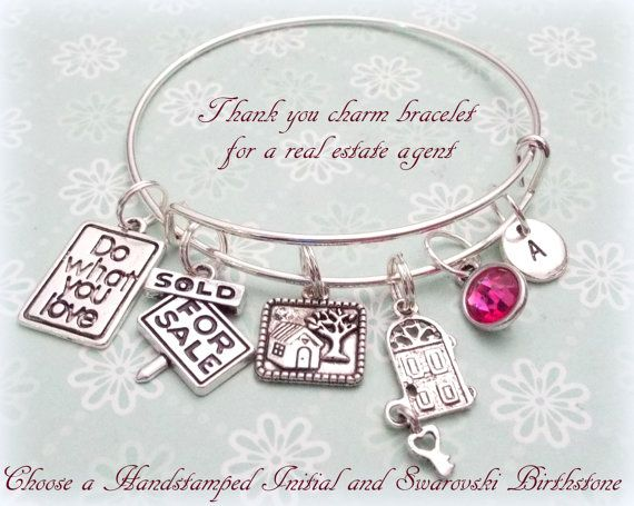 Real Estate Agent Gift Thank You Gift for Real by HopeisHipJewelry