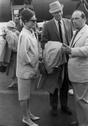 Vintage Maternity Clothes History (and photos)     Audrey Hepburn in two piece maternity suit
