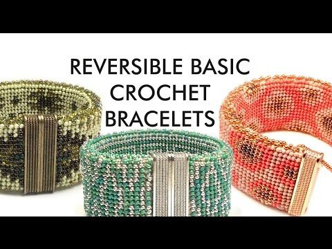 Bead Crochet Reversible Bracelet in simple traditional crochet stitches - YouTube - Another of Ann Benson's excellent tutorials.