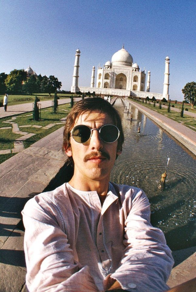 A selfie from George Harrison in India, 1966.