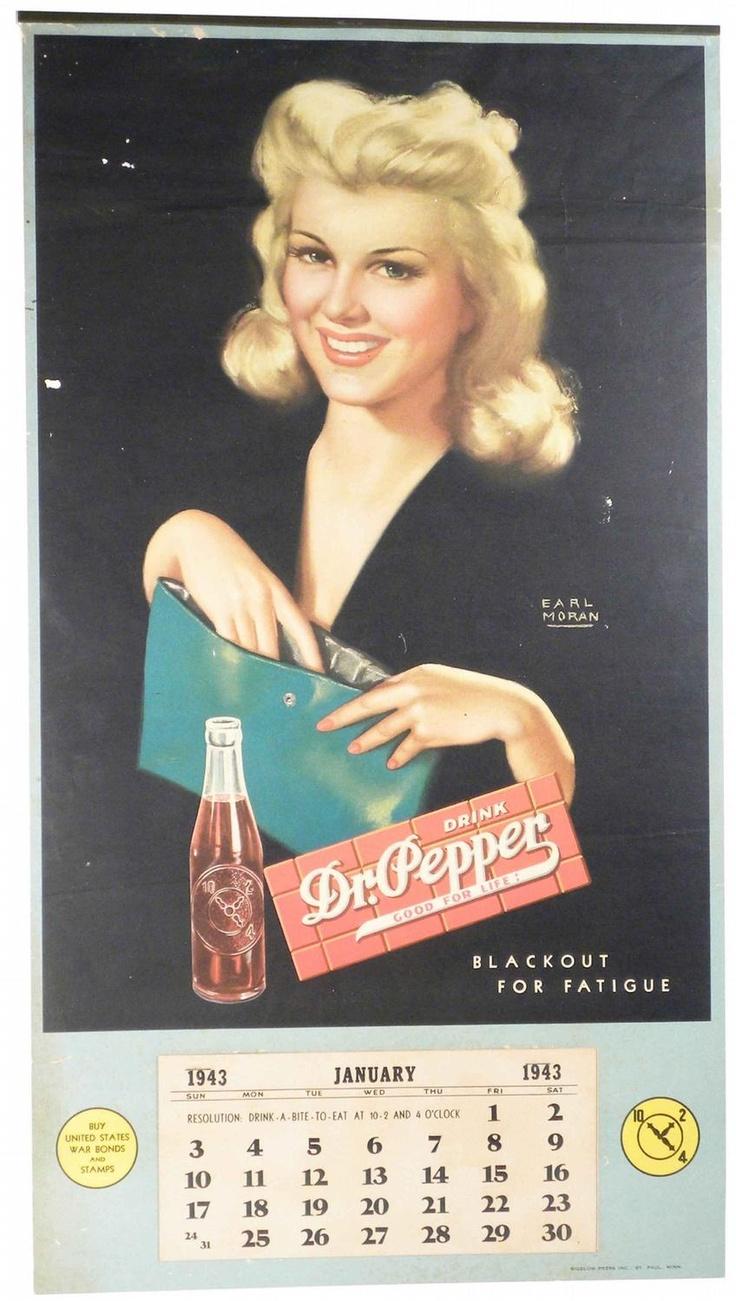 Earl Moran 1943 Calendar Pepsi