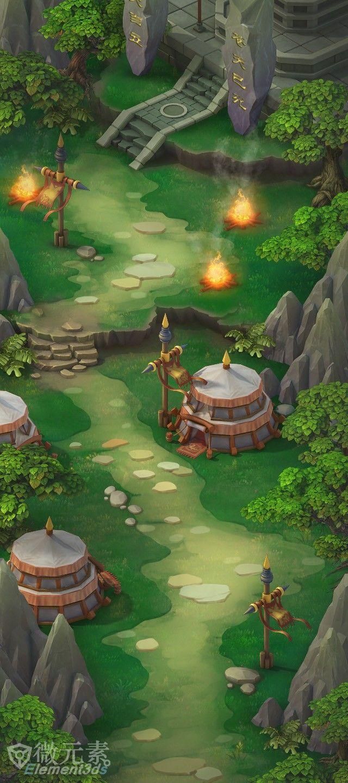 竖版手游场景地图大合集!!!,进入E3D...   Game Levels/ Environments   Pinterest