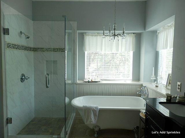 Master bath remodel revealed style bath pinterest for Romantic master bathroom