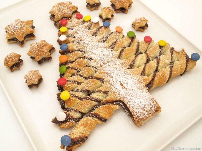 Árbol de hojaldre con Nutella, para Navidad - MisThermorecetas