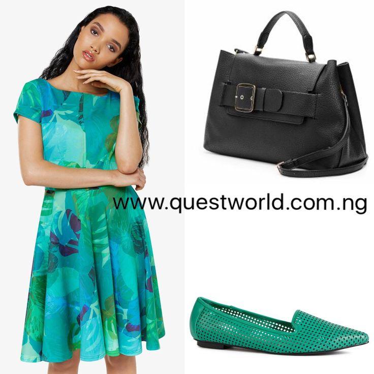 Closet Skater Dress size 8-12 #18000 Next Handbag #20000 Shoes size 8/42 #7500 www.questworld.com.ng www.konga.com/QUEST-WORLD-BOUTIQUE
