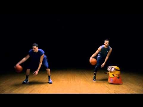 Court Kingz's Zig Zag ESPN commercial with Stephen Curry and Klay Thompson for the movie Minions !!! - YouTube
